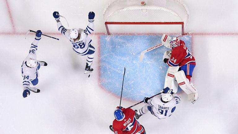 Торонто разби Монреал с 4:1 и се класира за плейофите в НХЛ