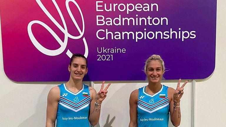 Сестри Стоеви са 1/4-финалистки на Европейското по бадминтон
