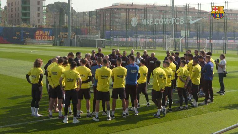 Барселона спира всички активности на първия тим