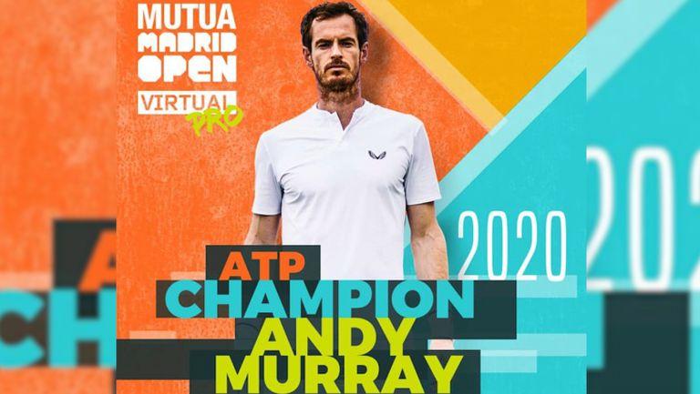 Анди Мъри спечели онлайн турнира в Мадрид