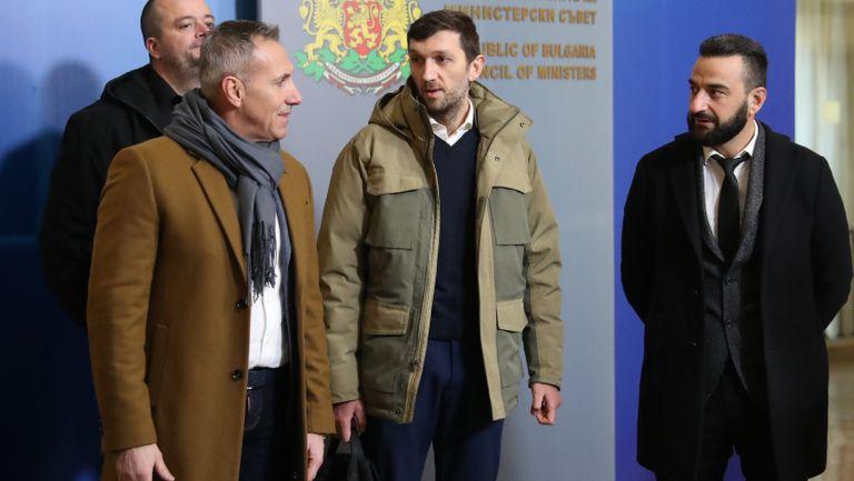 Феновете на Левски дойдоха при Бойко Борисов