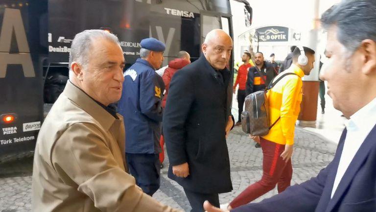 Фатих Терим доведе Галатасарай в хотела на Левски