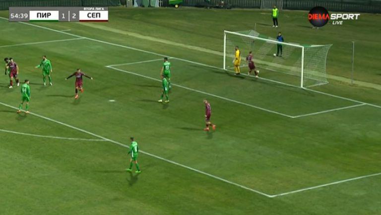 Преслав Йорданов отбеляза втория си гол в срещата и увеличи аванса на Септември