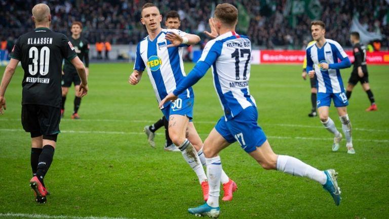 Вердер профука преднина от два ранни гола срещу Херта