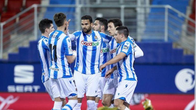 Пестелива победа вкара Реал Сосиедад в топ 4 (видео)